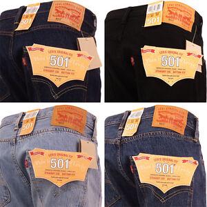 Levi 501 Jeans Original Straight Leg Fit Mens Denim Waist 28 30 32 ... 27909043f3