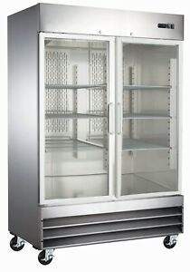 A-C-E-Commercial-Display-Freezer-Double-Reach-In-Glass-Doors-47-Cu-Ft