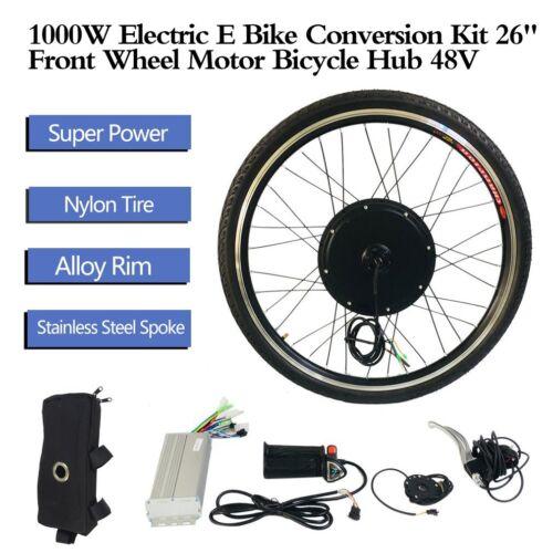 26 48V 1000W Hinterrad Elektrofahrrad Nachrüstsatz E-Bike Conversion Nabe~DE