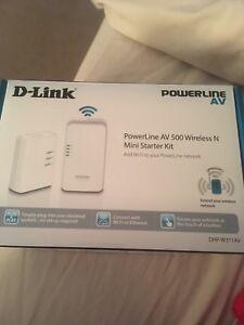 Importé De L'éTranger D-link Powerline Av500 Wireless N Mini Starter Kit-dhp-w311av - Hotspot-afficher Le Titre D'origine DernièRe Technologie