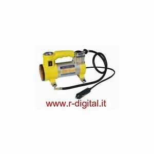 Compressore portatile 12v professionale manometro for Mini compressore portatile per auto moto bici 12v professionale accendisigari