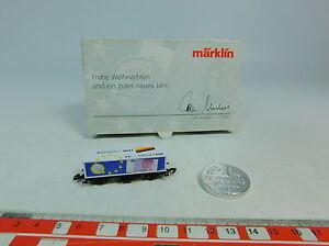 AU593-0-5-Maerklin-mini-club-Z-DC-Containerwagen-Weihnachten-Euro-Mark-NEUW-OVP