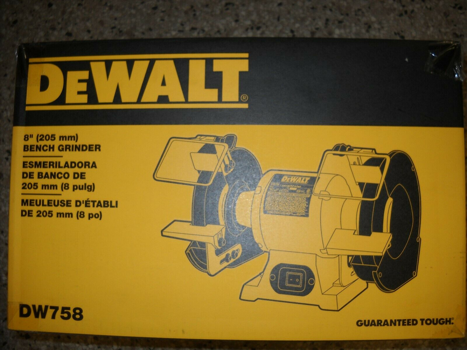 Incredible Dewalt Dw758 8 Heavy Duty Bench Top 36 60 Grit Grinder Tool 3 4 Hp 3600 Rpm New Caraccident5 Cool Chair Designs And Ideas Caraccident5Info
