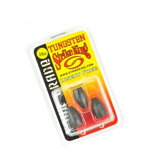 MATTE GREEN PUMPKIN STRIKE KING Tour Grade Tungsten Bullet Weights 3//8oz 3ct