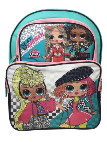 "LOL Surprise OMG Girls 16/"" Backpack Fierce Slay The Runway w// 2 Front Pockets"