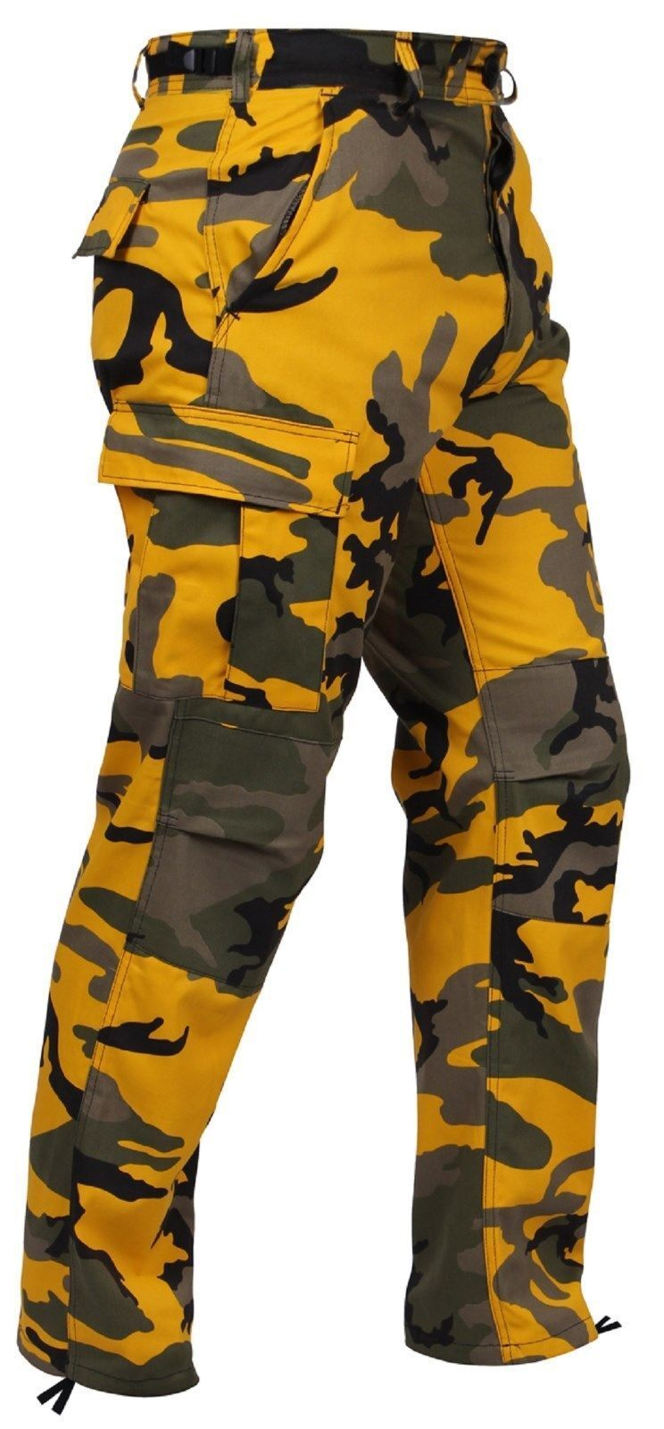 Stinger Yellow Camo Military Cargo Fatigue BDU Pants Polyester Cot  redhco 8875
