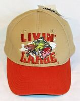 American Tradition livin' Large Bass Fishing Velcro Back Baseball Cap Hat
