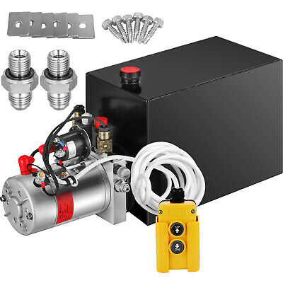 Anhänger Hydraulikaggregat 8 Quart Hydraulik Pumpe 12V 220bar 2200W Kipper