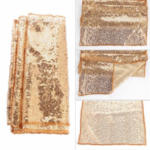 "12/"" x 72/"" Sequin Table Runner Cloth Tablecloth Wedding Party Banquet Home Decor"