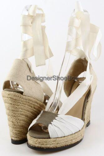 $185 LUXURY REBEL RENA Camo Taupe White Designer Espadrille Wedges 9.5 EUR 41