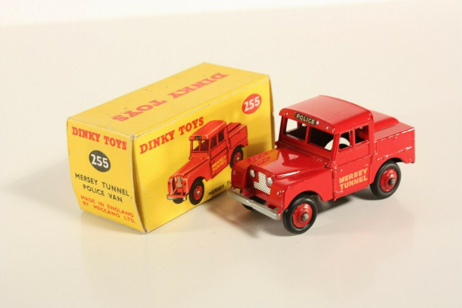 Dinky Toys 255, Mersey Tunnel Police Van, Mint in Box                    ab2171