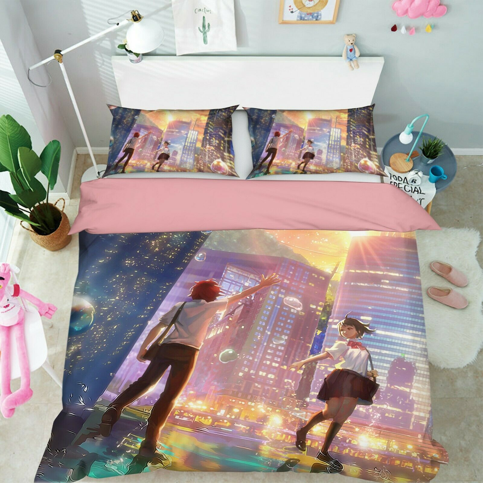 3D Your Name 654 Japan Anime Bed Pillowcases Quilt Duvet Cover Set Single UK