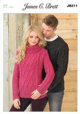 cb945ed103197 item 1 Ladies and Man s Sweaters JB211 Knitting Pattern James C Brett Aran - Ladies and Man s Sweaters JB211 Knitting Pattern James C Brett Aran
