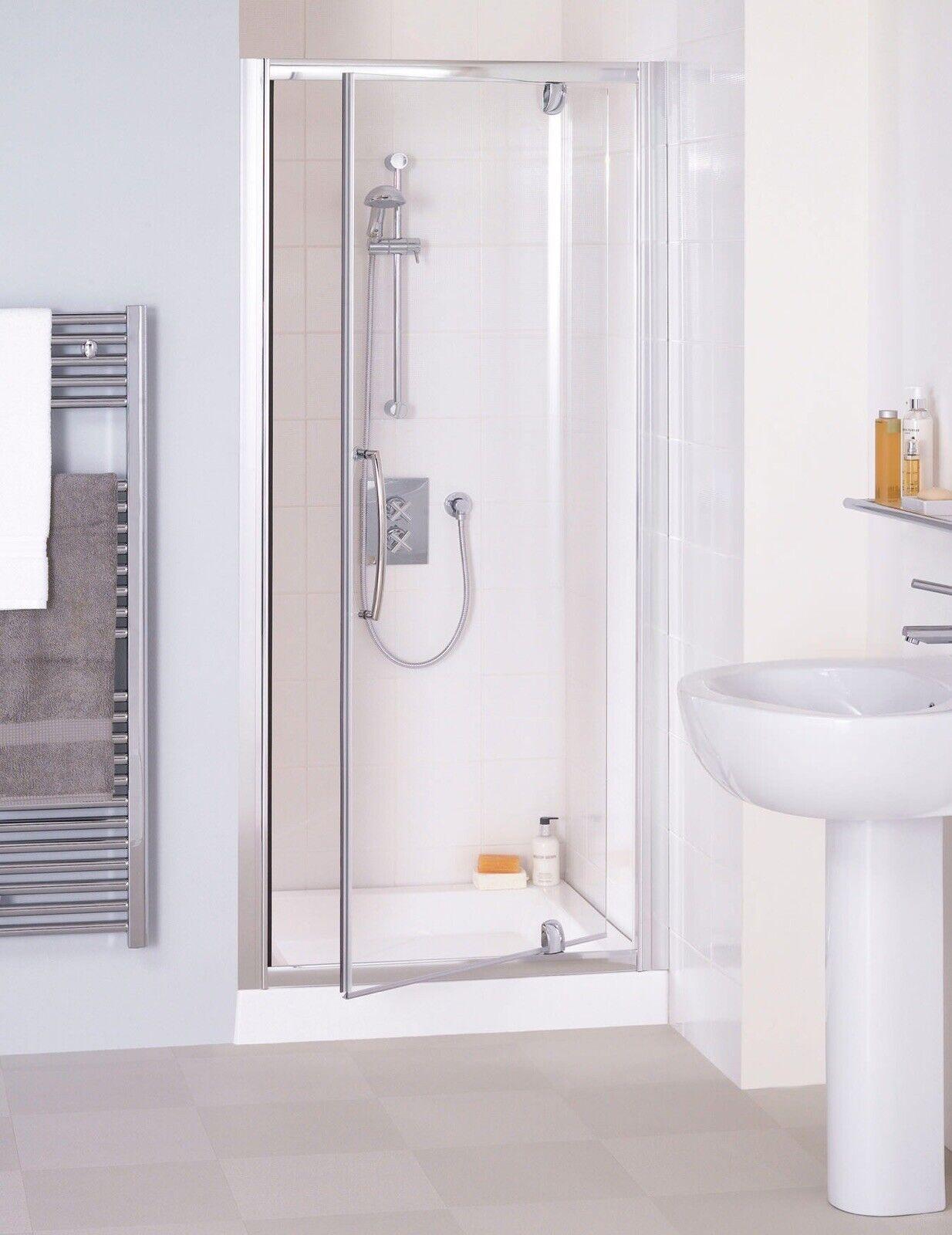 Lakes Classic Shower Enclosure Silver Semi Frameless Pivot Door Lkvp 080 1920