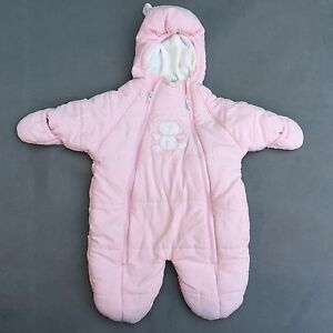 ebd3ec143729 BEARS baby girl s fashion pink outerwear bunting snowsuit Size--3 6 ...