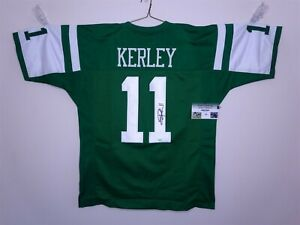 Details about JEREMY KERLEY SIGNED AUTO NEW YORK JETS GREEN JERSEY GTSM AUTOGRAPHED