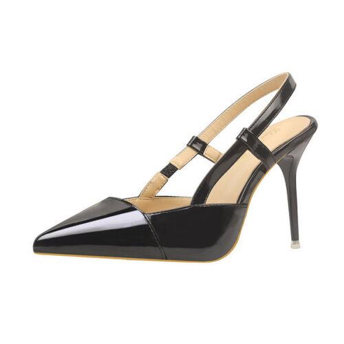 Nero Cm Simil Decolte Sandali Pelle 9636 10 Stiletto Eleganti Donna PcWPYgaBf