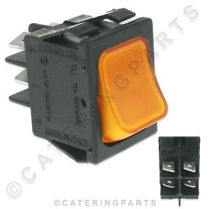 WASH-CYCLE-START-SWITCH-AMBER-MOMENTARY-FITS-ASBER-GLASSWASHER-AND-DISHWASHER