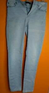 Women-039-s-Aeropostale-Light-Denim-High-Waisted-Jeggings-Size-8-LONG-Good-Condition