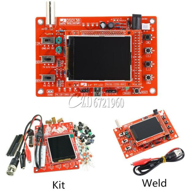 Assembled DSO138 2.4 TFT Digital Oscilloscope Kits DIY Parts ( 1Msps ) + Probe