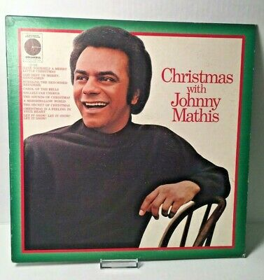 """Johnny Mathis 'Christmas with Johnny Mathis"""" LP Vinyl Record 33RPM 