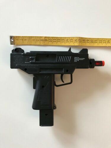 "9"" Plastic Black Toy Uzi Machine Gun With Action S"