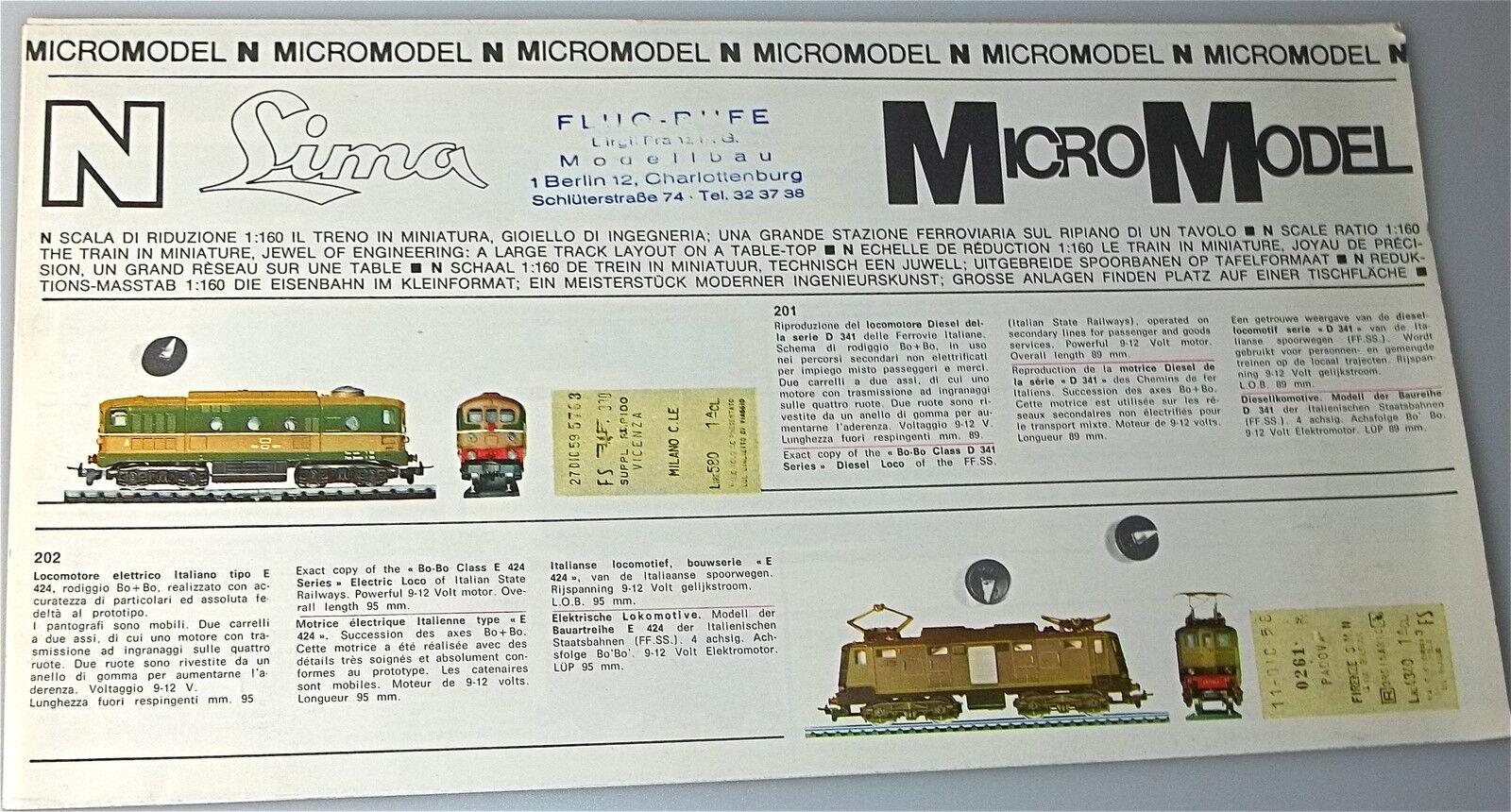 Lima micromodel N neuheitenblatt å