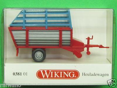 Rot//Grau Neu Wiking 038101-1//87 Heuladewagen