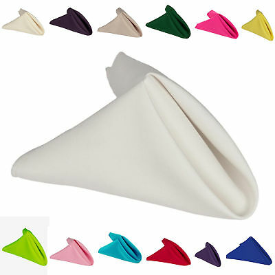 """250 Packs 20/"""" x 20/"""" Polyester Napkins Wedding Party Event Catering 24 COLORS USA"""