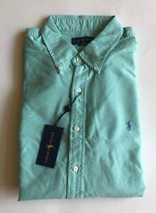 61609852f38  90 NWT Mens Polo Ralph Lauren Slim Fit Garment Dyed Button Down ...