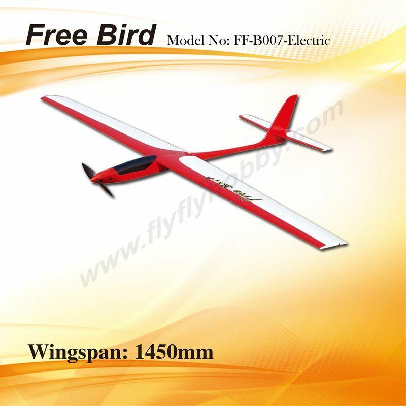 LIBRE pájaro eléctrico planeador 1450 mm