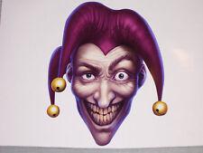 "11"" X 8.5"" Purple Evil Jester Window Sticker Window Decal Decals Skulls Clown"