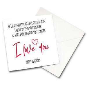 Brilliant Cute Birthday Card Romantic Love Husband Wife Boyfriend Girlfriend Personalised Birthday Cards Paralily Jamesorg
