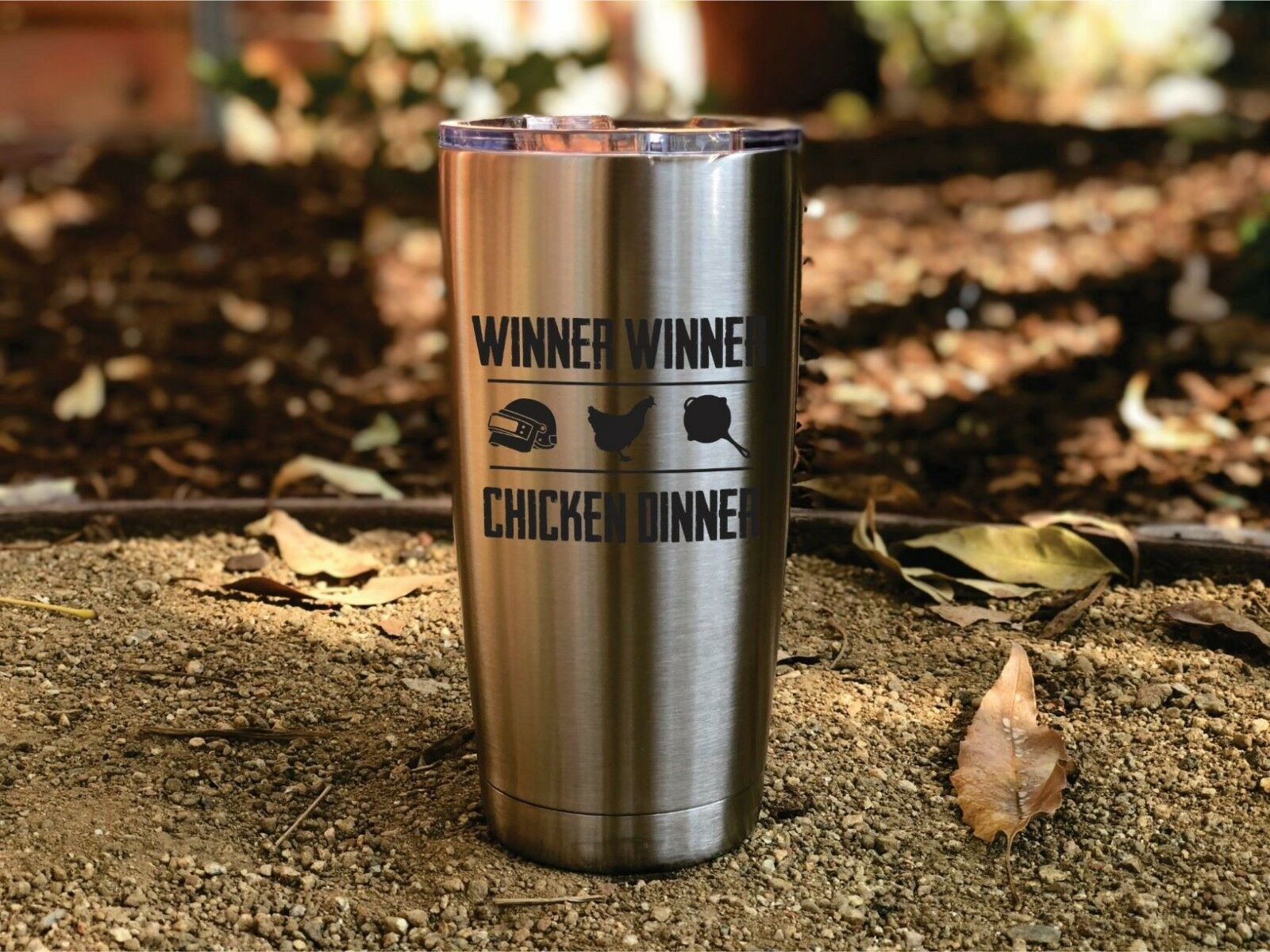 PUBG Inspired 20 oz Insulated Tumbler, Player Unknown, Battlegrounds