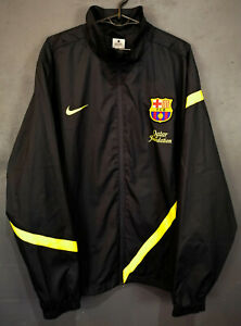 MEN'S NIKE FC BARCELONA 2011/2012 JACKET TRAINING SOCCER FOOTBALL BLACK SIZE XL