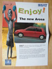 SEAT Range orig 1997 UK Mkt large format sales brochure - Arosa Toledo Inca etc