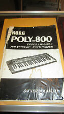 Vintage Original 1980's Korg Poly-800 Synthesizer Manual Collectors Cool Vibe!