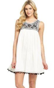 Kleid Gr.48 Hängerchen Sommerkleid weiß Damen Kurz ...