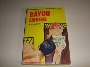 BAYOU-SINNERS-by-J-X-WILLIAMS-Idle-Hour-Book-IH401-GGA-1964-Vintage-PB