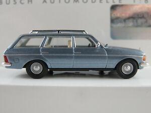 Busch-46841-mercedes-benz-W-123-T-modelo-1977-en-azul-metalizado-1-87-h0-nuevo-en-el-embalaje
