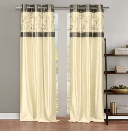 Curtains Ideas curtain panels on sale : hot sale Silky 2 Window Curtain Panels with Grommets: Linen ...
