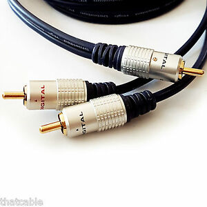 3M-1-to-2-RCA-Phono-Male-cavo-splitter-Y-T-CAVO-Subwoofer-audio-video