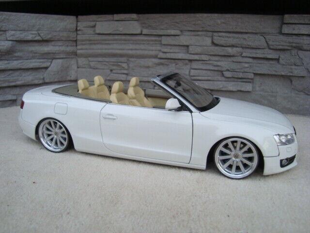 1 18 Audi A5 Cabrio Tiefer Tuning mit 19 Zoll VW Omanyt Echt Alu Felgen  | Erste in seiner Klasse