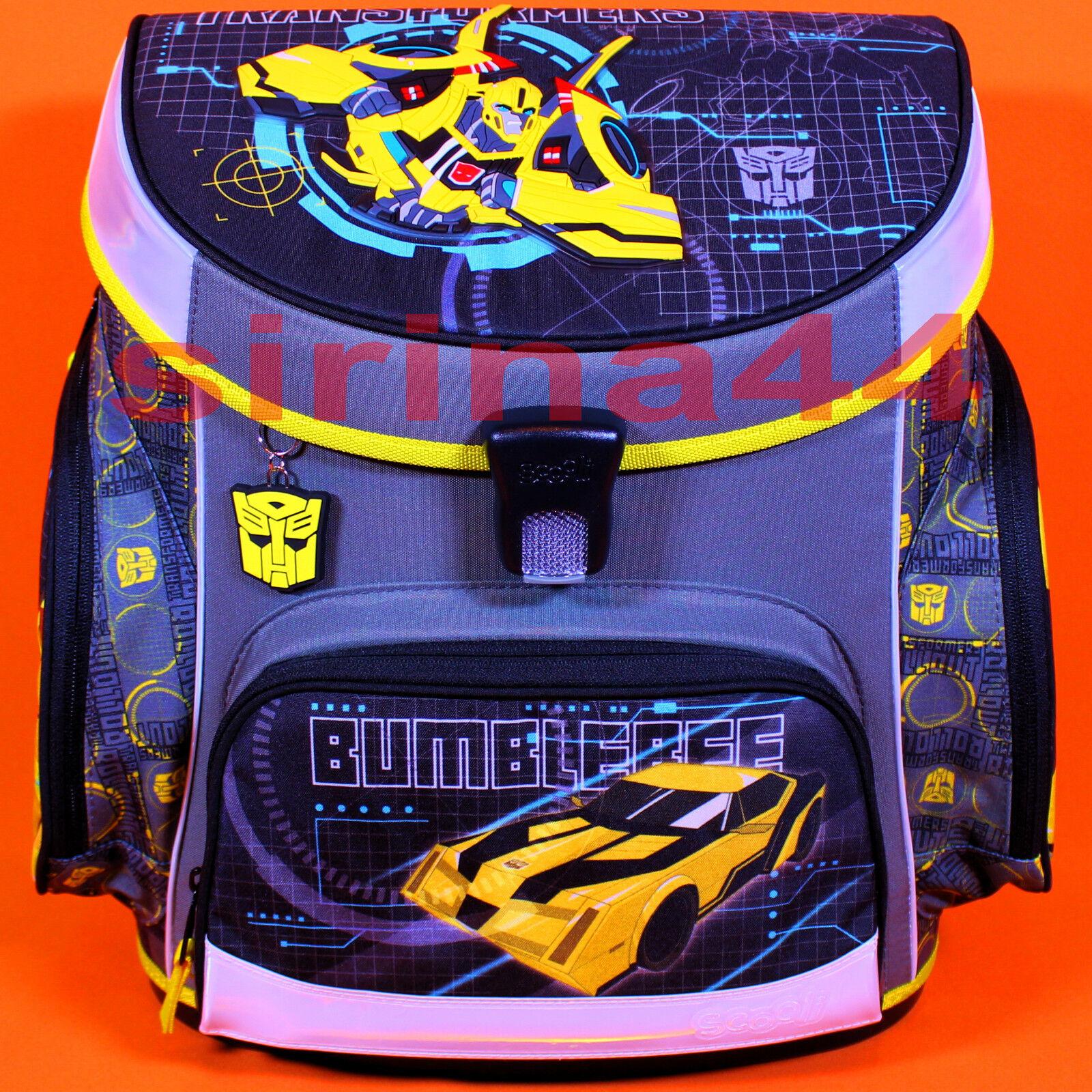 21tlg Schulranzen-Set  Transformers  - Bumblebee m.Flasche+Dose+Sporttasche uvm. | Schenken Sie Ihrem Kind eine glückliche Kindheit  | Hohe Sicherheit  | Billiger als der Preis