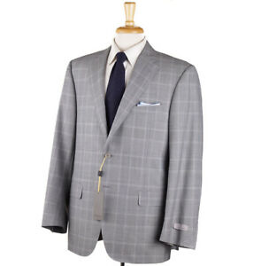 NWT-2195-CANALI-Regular-Fit-Light-Gray-Glen-Check-Wool-Suit-38-R-Eu-48