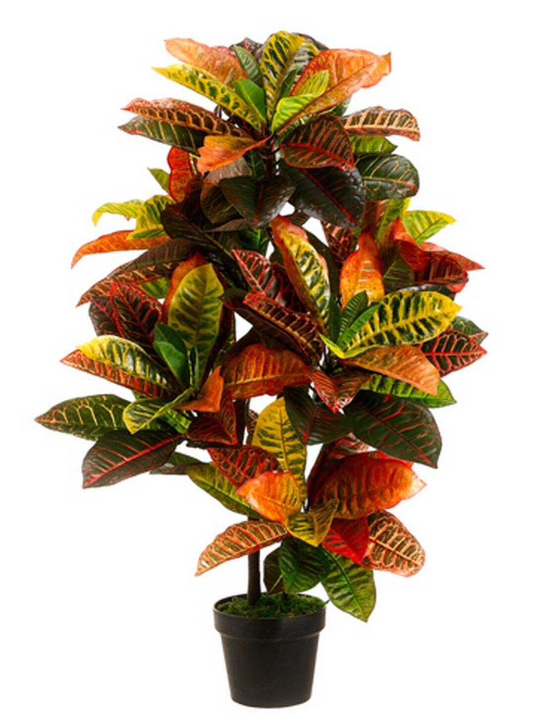 ARTIFICIAL 3' CROTON OUTDOOR UV TOPIARY TREE BUSH PALM IN POT POOL 5 7 6 4 PATIO