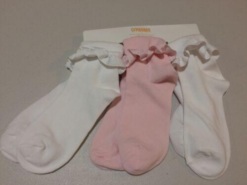 NWT Gymboree Girl Socks 3 pairs pack Fold over XXS,XS