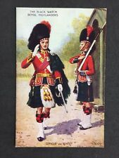 Vintage PC: Military: #M350: Black Watch Royal Highlanders: Officer & Sentry