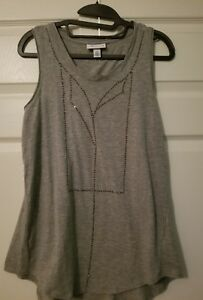 3-1-Phillip-Lim-Grey-Sparkle-Tank-Top-Size-Women-039-s-Small-NEW-Gray-Shirt-Target