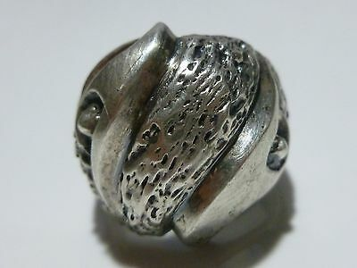 MATEO 950 BETTER THAN STERLING SILVER TAXCO MEXICO 1950s DOUBLE EAGLE MENS RING